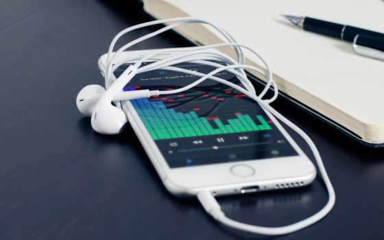 телефона, планшета, оригинальном, iphone,