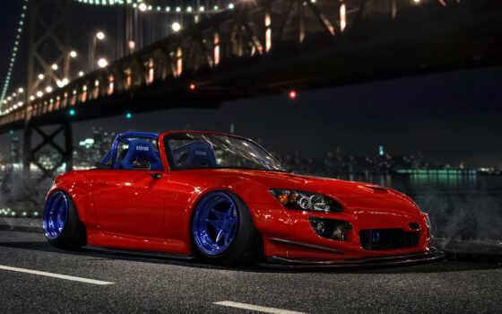car, stance, фронтовой, low, оранжевый, мост, honda, shirokoformatnyi, доска, design, биг