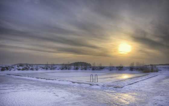 снег, швеция