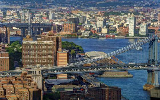 нью, мост, река
