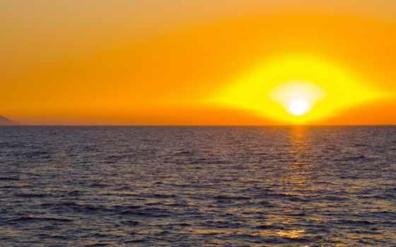 море, закат, моря