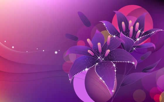 лилии, круги, lily, вектор, cvety, сияние, нарисованные, красивые, широкоформатные, белые, разных,