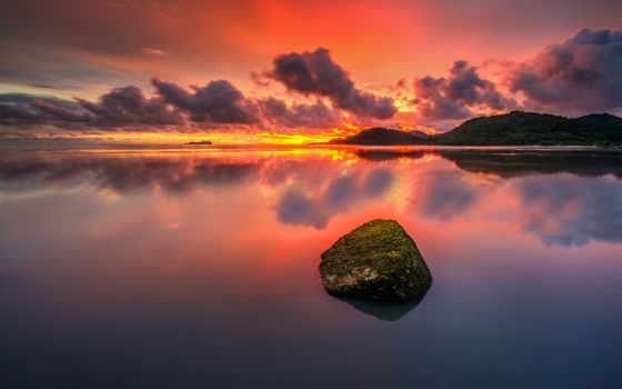 безмолвие, природа, закат, oblaka, озеро, youtube, небо, река, лес, речей,