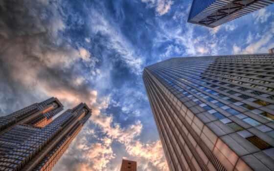 город, дома, небо Фон № 68121 разрешение 1680x1050