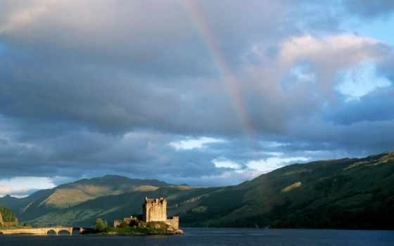 шотландия, highlands, scottish, донан, castle, eilean,