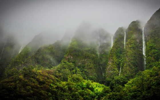 природа, водопады, горы