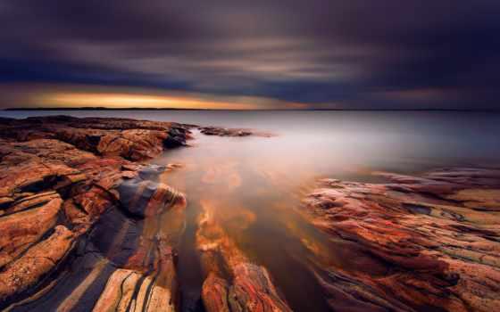 sweden, озеро, clouds