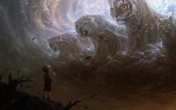 автор, фотографий, art, пикабу, тигры, картинку, смыслом, little, boy, legion,