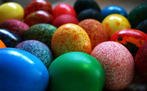 яйца, пасху, пасхальные, красивые, расписанные, краска,