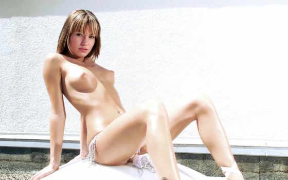 эротика, голая, прикрыто, пояс, бижутерия