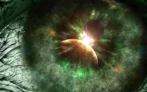 глаз, космос, глаза
