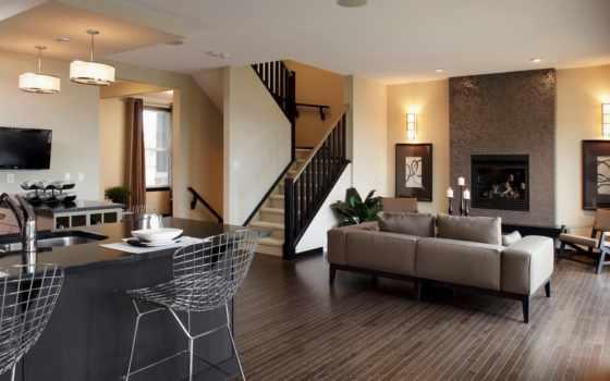 interer, dizain, гостиной
