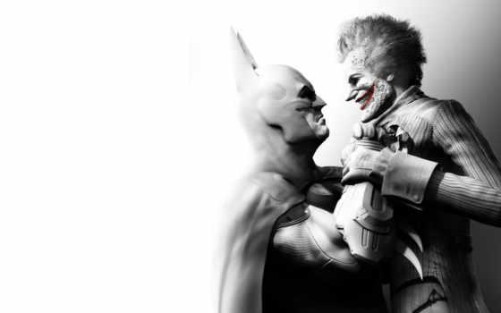 batman, arkham, город, joker, action,