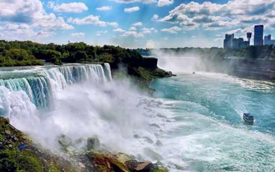 falls, niagara, американский, природа, сша, водопад, америки, северной, ниагарские, вертикали,