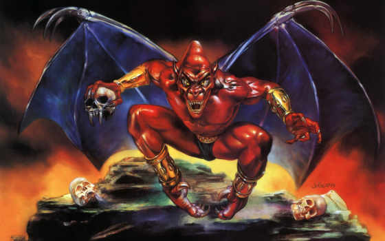 demon, crest, capcom, blazon,