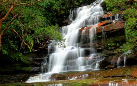 природа, водопад, река Фон № 64682 разрешение 1920x1080