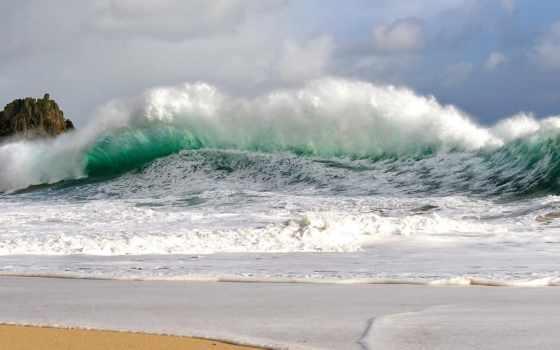 море, waves, буря, full, landscape, берег, картинка, browse,