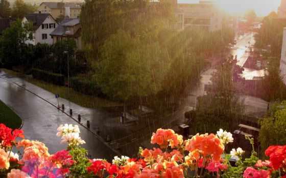 дождь, взгляд, широкоформатные, капли, город, wonderful, разрешениях, summer, блики, балкона, разных,
