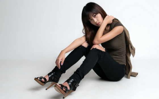 девушка, модель, sit, korean, пол, fashion,