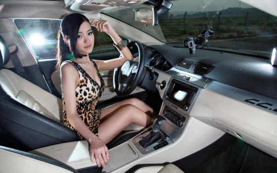 шаблон, девушка, авто, женский, машине, psd, рулём, за, страница, шикарной, девушек,
