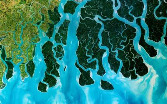 reki, река, спутника, дельт, красивые, ürek, зубы, живописные, выглядят, мира,