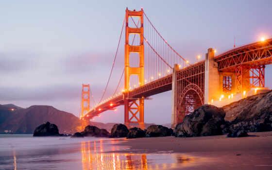 ipad, мост, город, сумерки, закат, california, море, мини