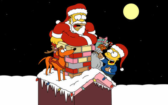 simpsons, christmas, симпсоны, homer, simpson, рождество, bart, xmas, wallpapers, en, картинку, page, santa, фильмы, navidad,