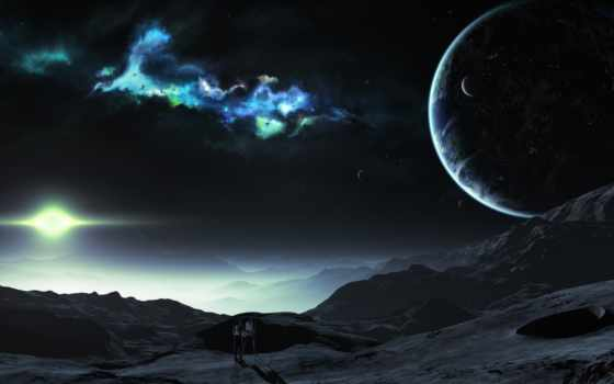 планеты, звезды Фон № 24523 разрешение 2560x1600