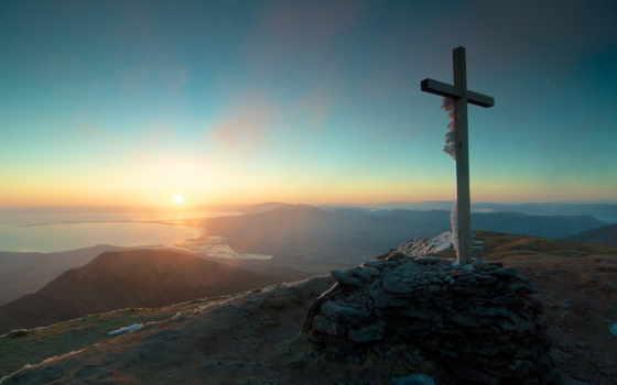кросс, landscape, крест, becca, об, glimpse, горы, elders, мужчина,