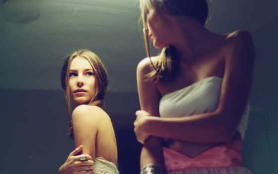 зеркало, девушка, hot