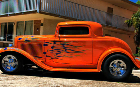 hot, rod, flames
