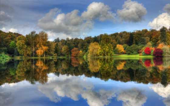 árvores, para, parede, coloridos, imagens, baixar, lago, outono, otoño,