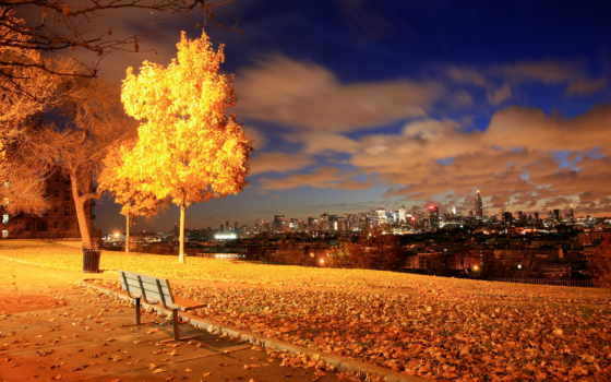 нью, йорке, осень