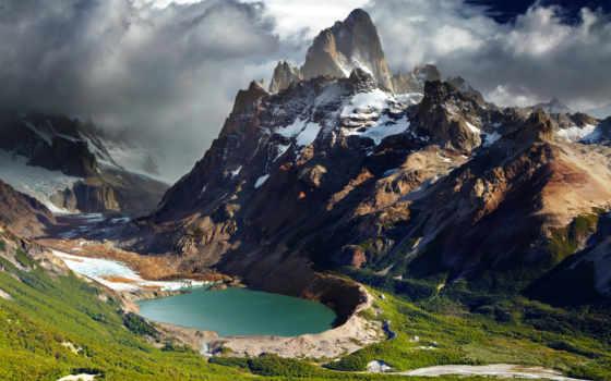 park, national, los, стоковые, fitz, гласьярес, аргентина, glaciares,
