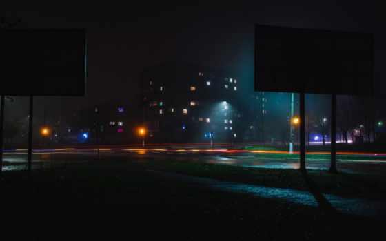 ночь, огни, город, картинка, свет, desktop, home,