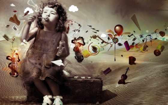 девочка, imagination, пузыри, des, фотошоп, archann, разное, design, нереальные, free, мыльные, необычные, сюрреализм, web, picture, imaginação, детства, art, мечты, this, cola,
