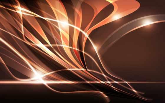 абстракция, линии, свечение