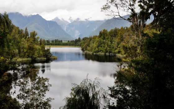 озеро, matheson, zealand