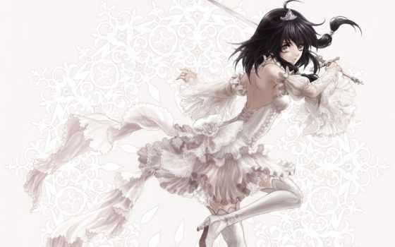 девушка, art, anime