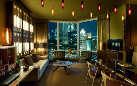 интерьер, design, стиль, комната, тек, hai, комнаты, квартира,