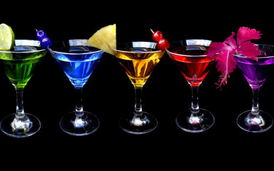 коктейли, коктейль, фрукты,