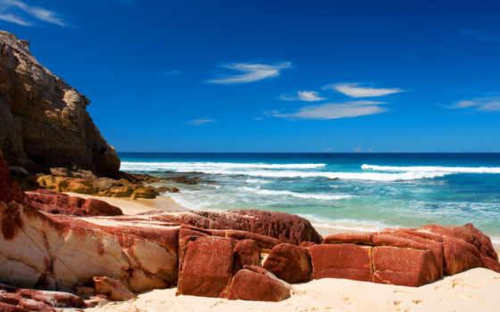 красивые, камни, природа, фотографий, море, пейзажи -, берег, waves, ocean,
