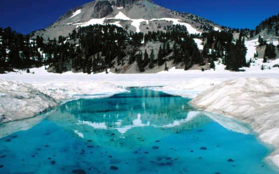 lassen, волканик, national, park, находится, peak, самой, калифорнии, фотографий, travel,