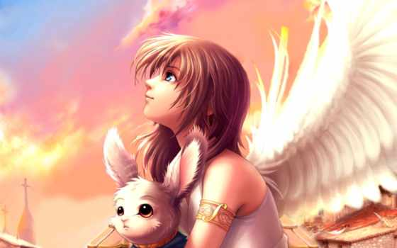 ангелы, anime, angel