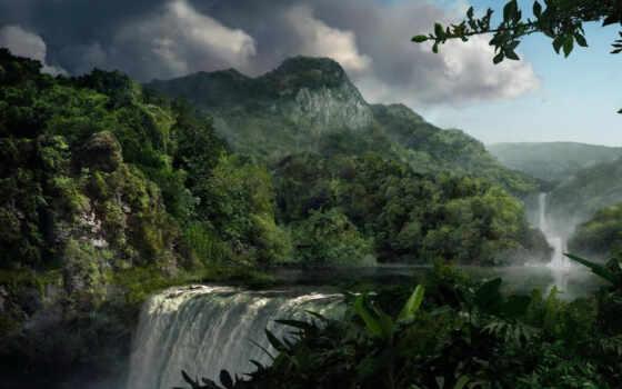 гора, природа, jungle, landscape, растительность, фото, high, rico, puerto