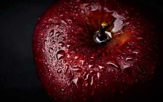 apple, red, плод, dark, black, water, виджет, app, еда, фото, супер
