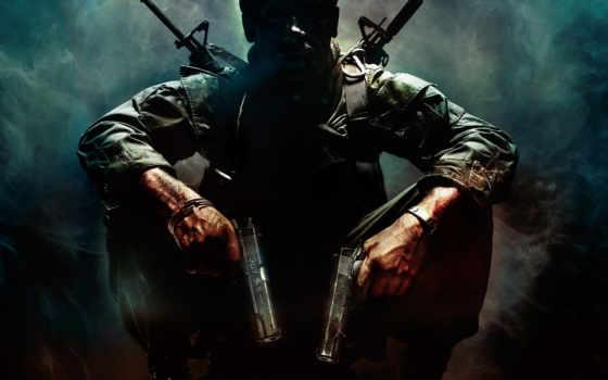 call, black, ops, duty, оружие, стрелок, темный, пистолеты, воин, дым, games, similar,