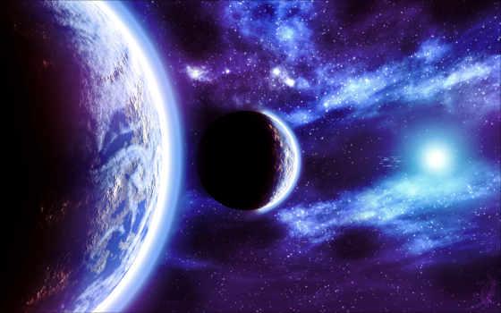 cosmos, звезды, планеты, свечение, космос, космоса, свет, blue,