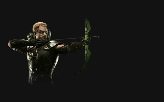 injustice, стрелок, зелёный, game, video,