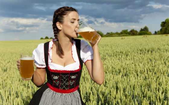 пива, devushki, пиво, баварская, напитки, кружками, that, девушка, голодный,